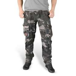 Брюки Airborne Slimmy Black Camo | Surplus