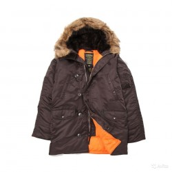 Куртка N-3B Slim Fit Parka Deep Brown/Orange | Alpha Industries