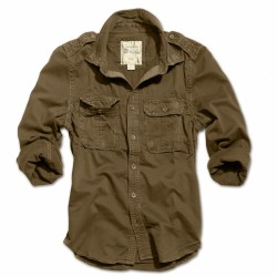Рубашка 1/1 Raw Vintage Shirt Brown| Surplus