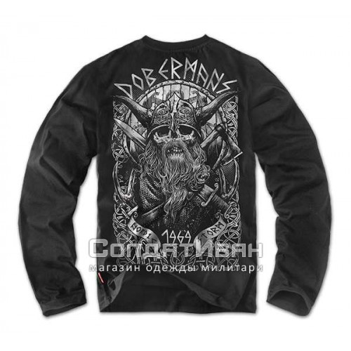 Футболка Longsleeves Viking 2 LS58 Черная | Dobermans Aggressive фото 1