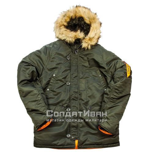 Куртка Аляска HUSKY SHORT Rep.Grey/Orange | Nord Denali Storm фото 1