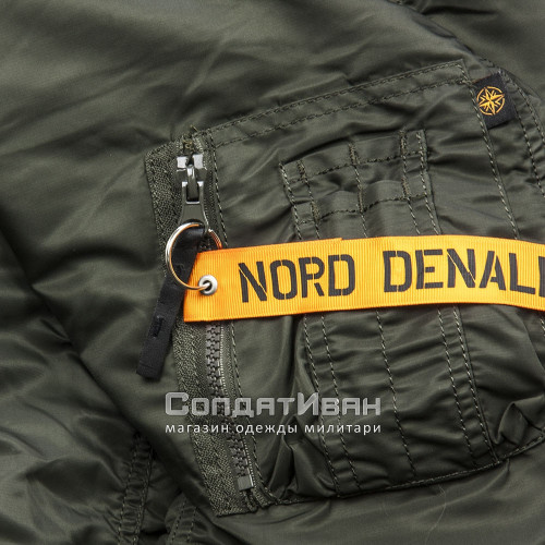 Куртка Аляска HUSKY SHORT Rep.Grey/Orange | Nord Denali Storm фото 3