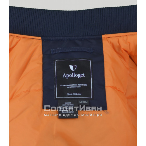 Куртка Bomber Long B-17 Rep.Blue / Orange | Apolloget фото 5