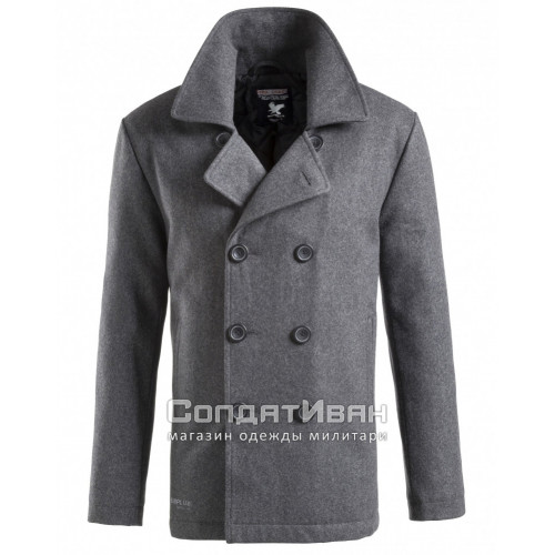 Пальто PEA COAT Grey | Surplus фото 1