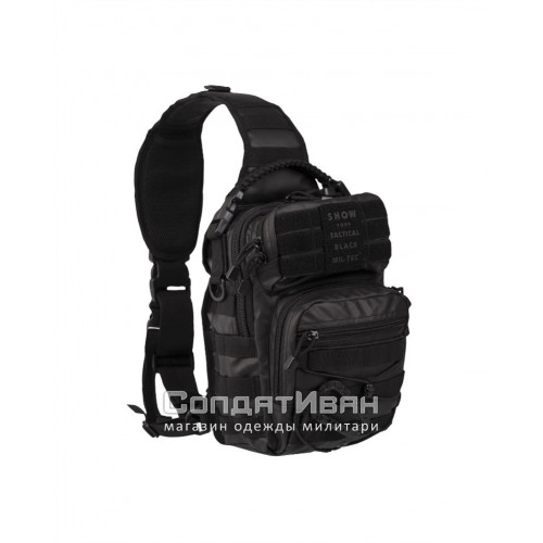 Рюкзак однолямочный Assault Pack 10L Tactical Black | Mil-Tec фото 1