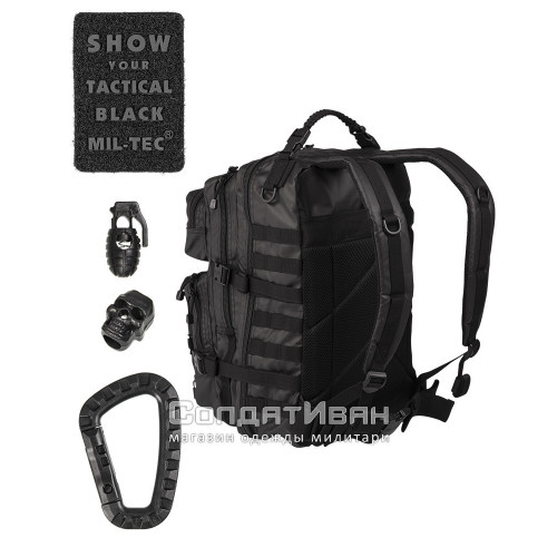 Рюкзак US ASSAULT PACK 40L TACTICAL BLACK | Mil-tec фото 2