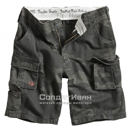 Шорты Trooper Shorts Black Camo | Surplus фото 1