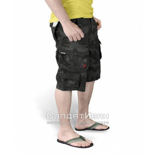 Шорты Trooper Shorts Black Camo | Surplus фото 5