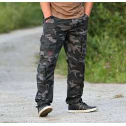 Брюки Airborne Vintage Trousers Black Camo | Surplus