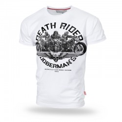 Футболка Death Rides White TS166 | Dobermans Aggressive