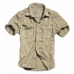 Рубашка 1/2 Raw Vintage Shirt Beige washed | Surplus