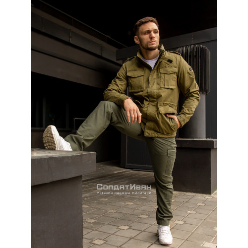 Брюки Mallow 1033 Olive | Vintage Industries фото 3