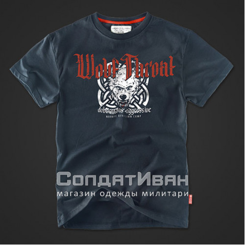 Футболка Wolf Throat Navy TS60 | Dobermans Aggressive фото 1