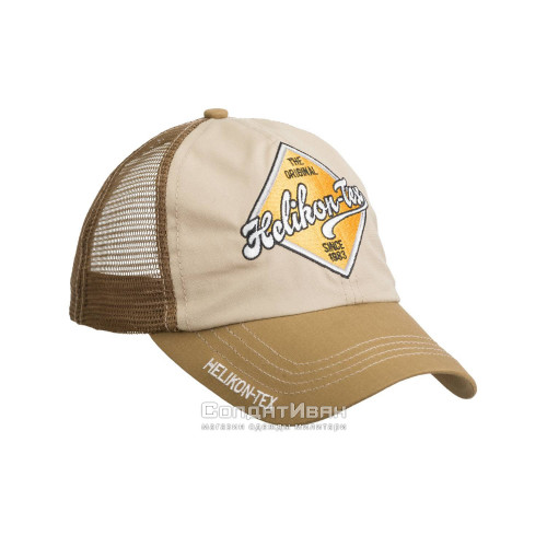 Кепка TRUCKER Logo KHAKI/U.S. BROWN | Helikon-Tex фото 1