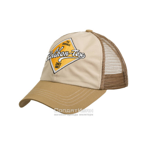 Кепка TRUCKER Logo KHAKI/U.S. BROWN | Helikon-Tex фото 2