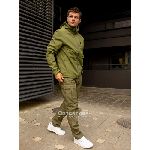 Куртка Ather softshell 30104 Olive | Vintage Industries фото 3