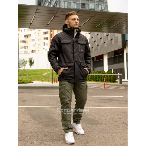 Куртка Marc parka 30106 Black | Vintage Industries фото 2