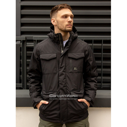 Куртка Marc parka 30106 Black | Vintage Industries фото 1